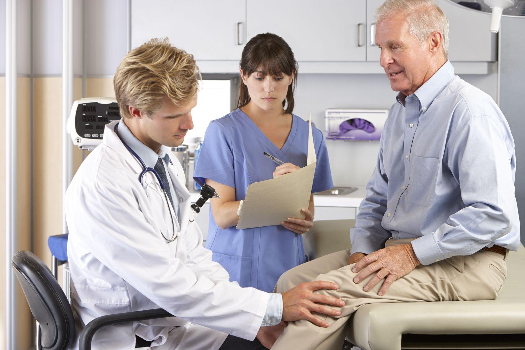 Ortopédia -térdvizsgálat